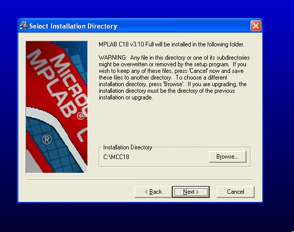 How to Install MPLAB C18 Compiler in Windows, mplab c compier, installation of mplab c compiler, c compiler for pic