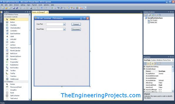 How to use Serial Port in VB 2010 - The Engineering Projects