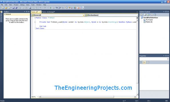 Microsoft Visual Basic 2010 - Com Port Tutorial, serial port tutorial in vb.net, serial port tutorial in visual studio 2010