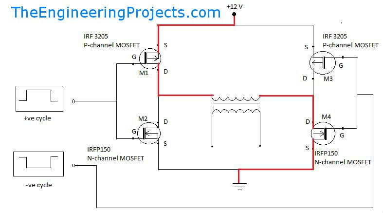 pure sine wave inverter design with code the engineering projects rh theengineeringprojects com