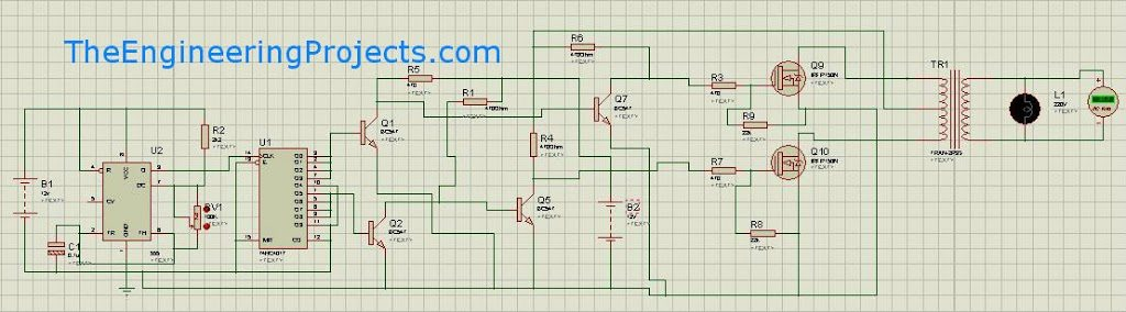 Sukam Inverter Wiring Diagram : Modified sine wave design with code the engineering projects