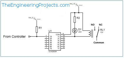 Relay Interfacing With Microcontroller Using Uln2003a The