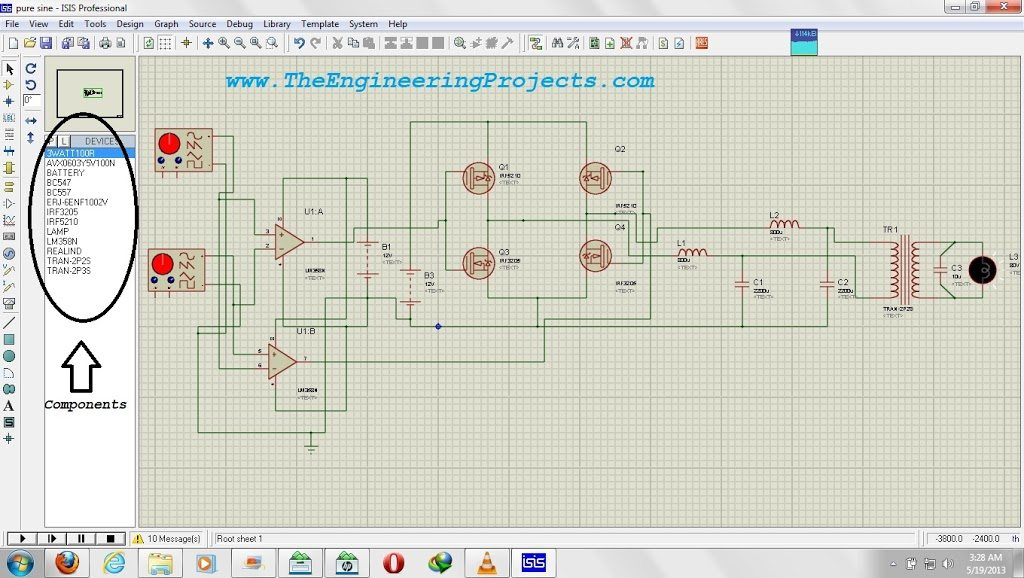 How To Use Oscilloscope In Proteus Isis The Engineering