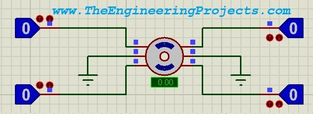 Stepper Motor Drive Circuit in Proteus ISIS - The