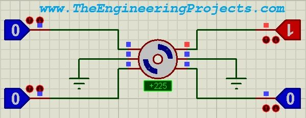 stepper motor drive circuit in proteus isis the