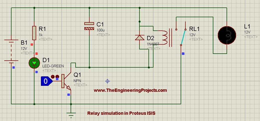 How To Control Relay In Proteus Isis The Engineering Projects
