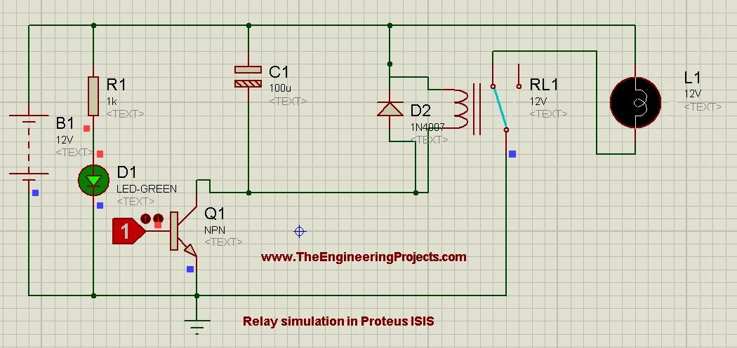 Relay Simulation In Proteus Isis on dc motor diagram