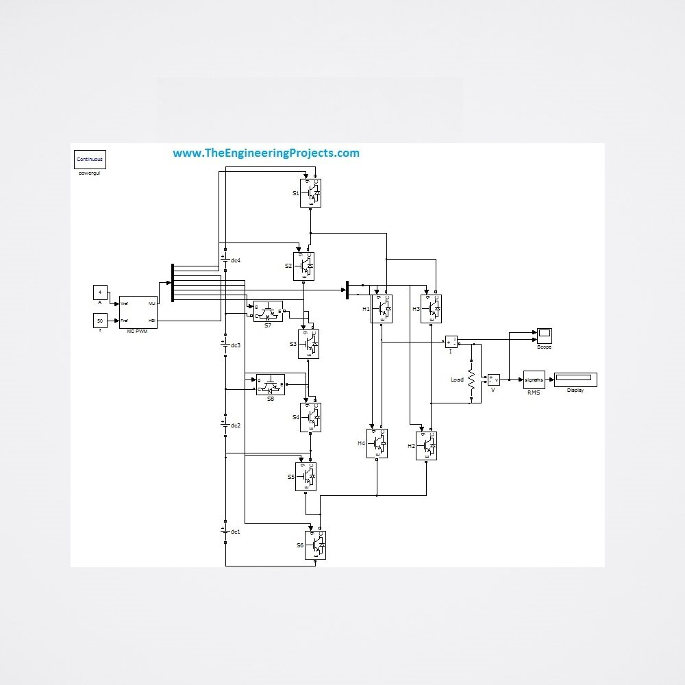3 Level Diode Clamped Multilevel Inverter The Engineering Projects Circuit Diagram Youtube