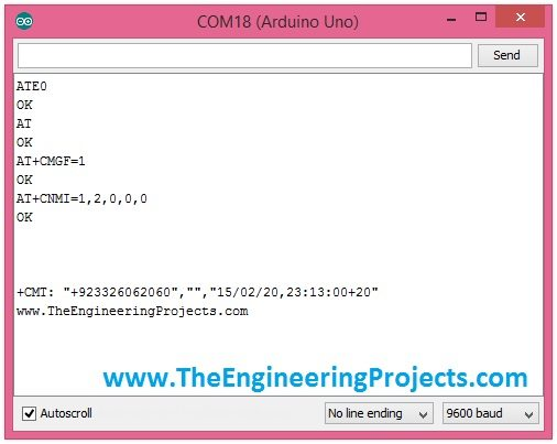 Receive text message,Arduino at commands,gsm at commands, get sms with at commands, get sms with arduino gsm