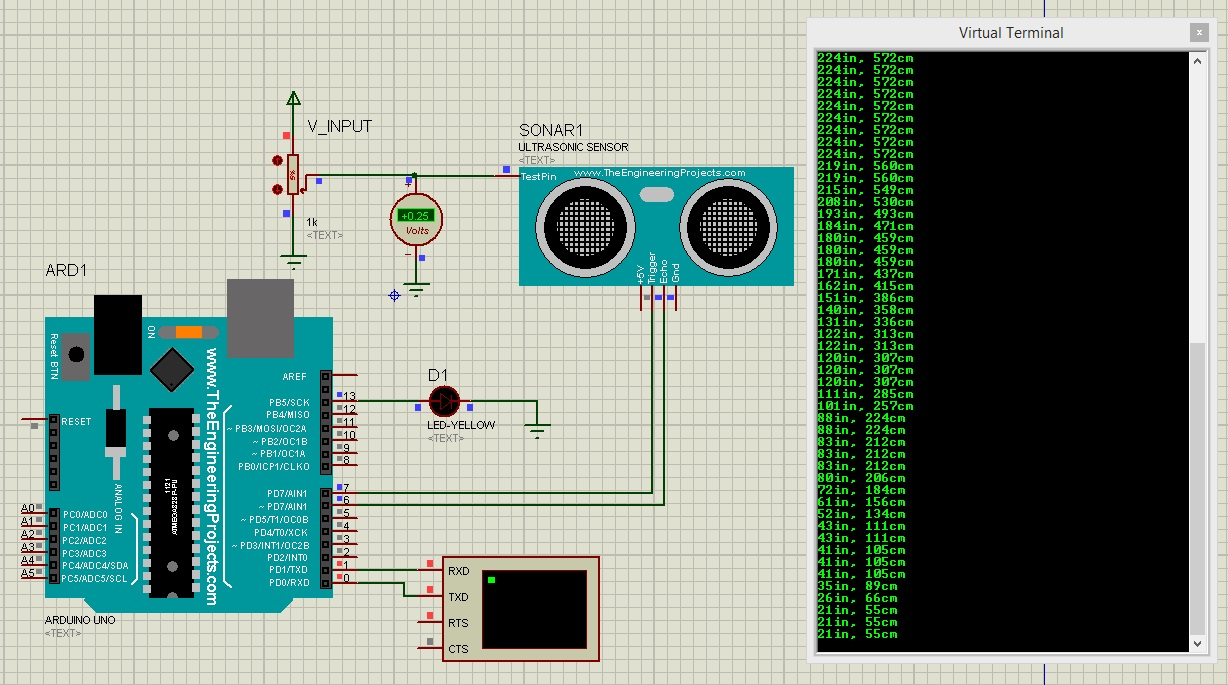 Ultrasonic Sensor Library for Proteus - The Engineering Projects