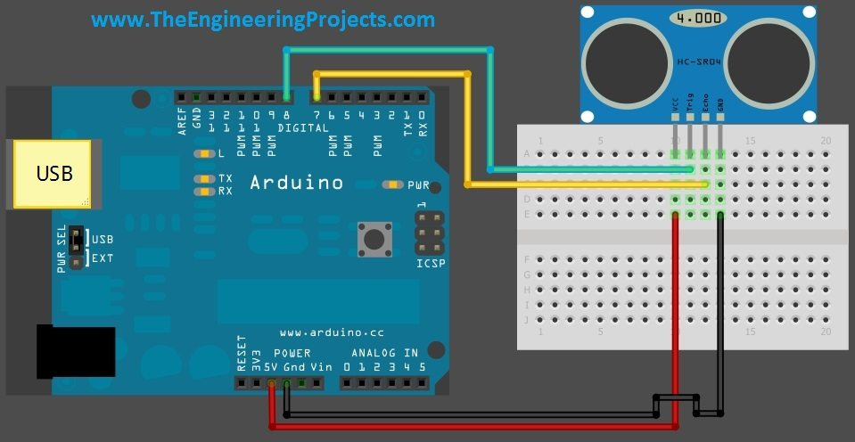interfacing of ultrasonic sensor with arduino the HC-SR04 Code HC-SR04 Code