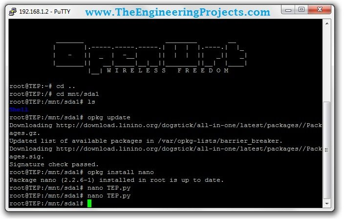 Access Linux Server of Arduino YUN with Putty,Connect yun with puttty,how to connect arduino yun with putty,putty with arduino yun