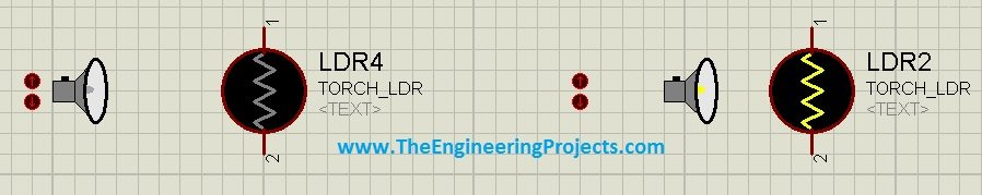 How to use LDR Sensor in Proteus, LDR simulation in Proteus, LDR Proteus Simulation, LDR circuit diagram, circuit diagram of LDR, LDR in Proteus