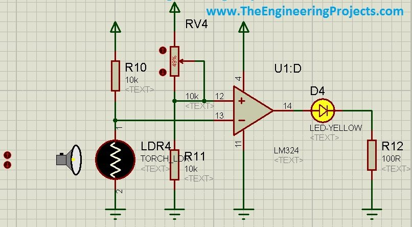 How to use LDR Sensor in Proteus - The Engineering Projects