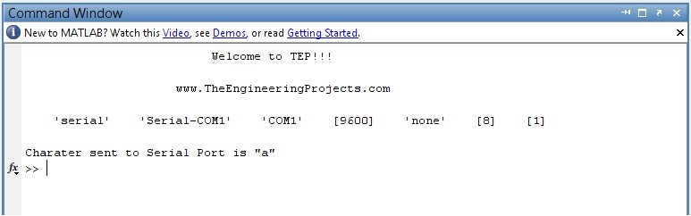 com port in matlab, send data to matlab,com port matlab,data sending com port in matlab, com port in matlab