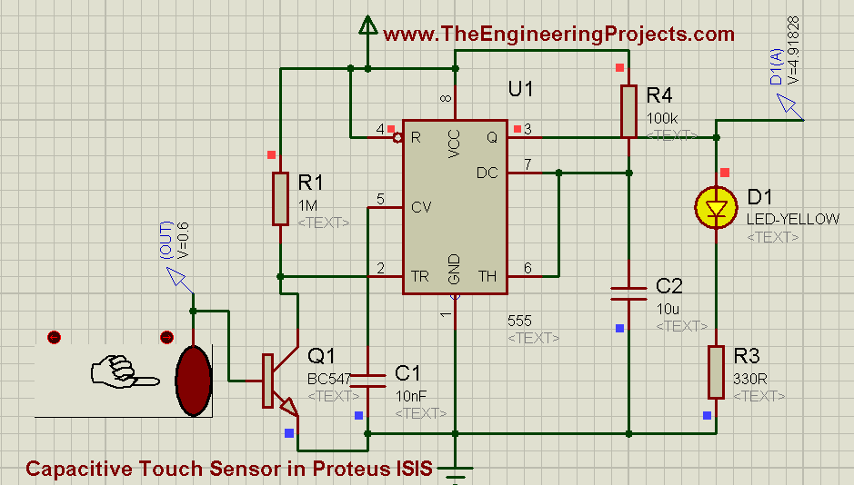 How To Use Capacitive Touch Sensor In Proteus Isis The