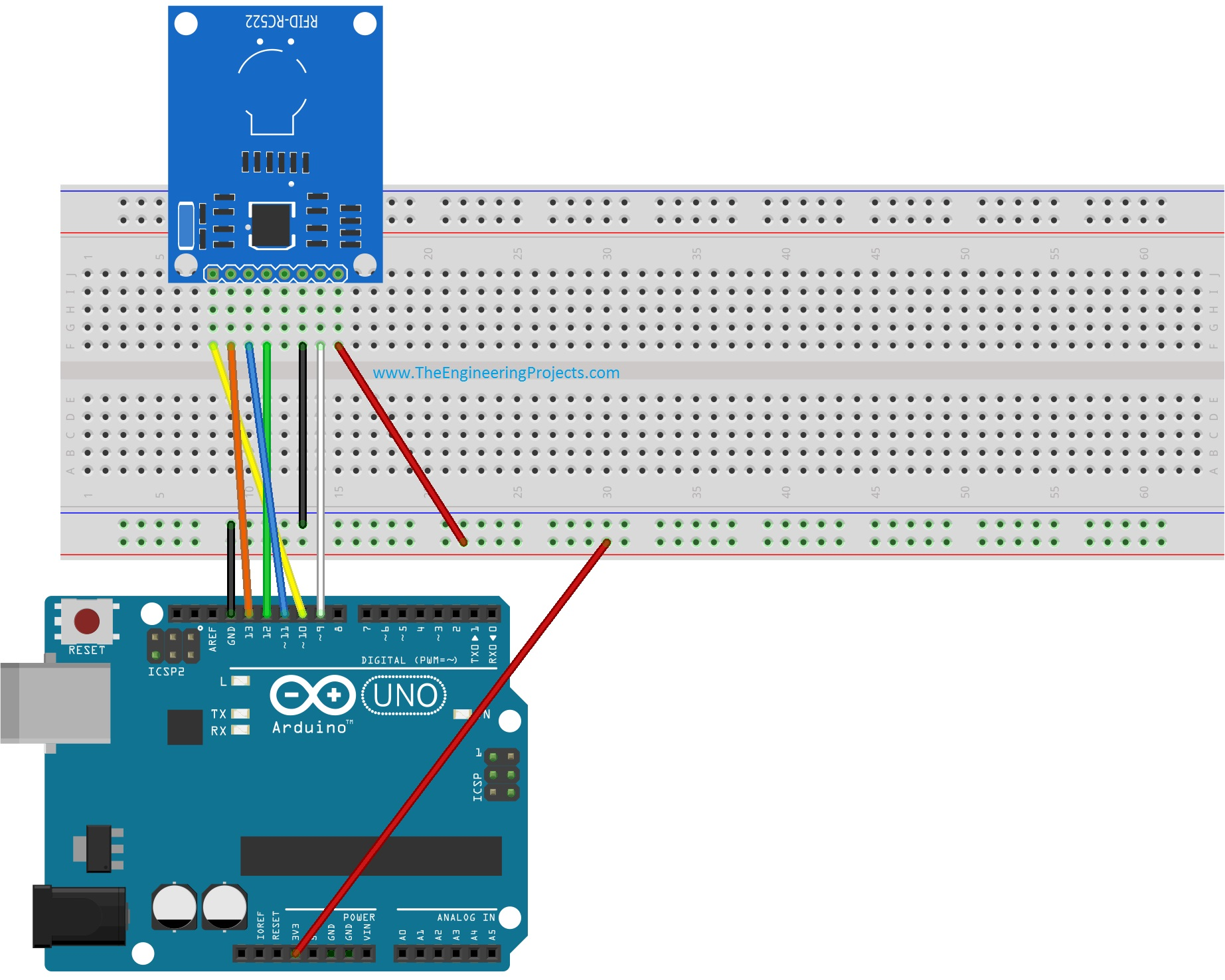 Interfacing of RFID RC522 with Arduino - The Engineering Projects