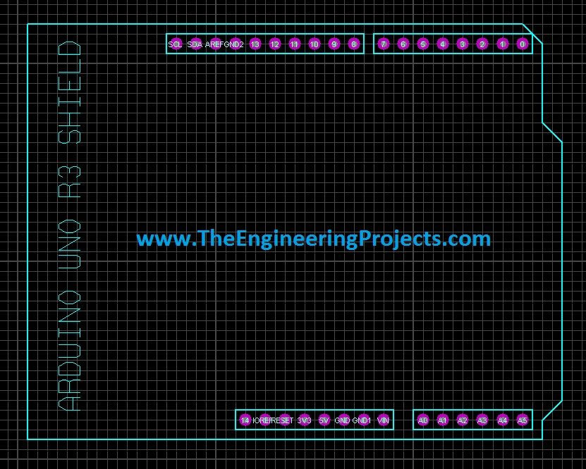 Arduino Uno Pcb Design For Proteus Ares The Engineering Projects