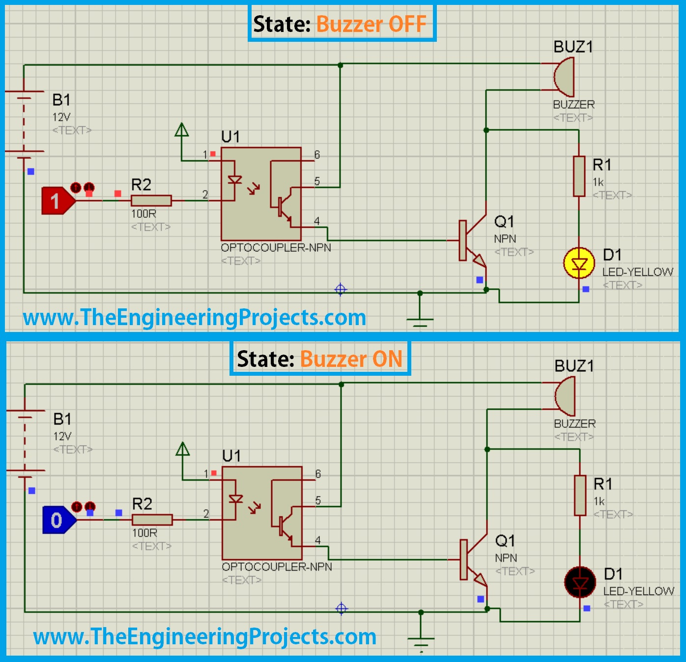 Design A Buzzer In Proteus Isis The Engineering Projects Voice Changer Circuit Diagram Proteusproteus