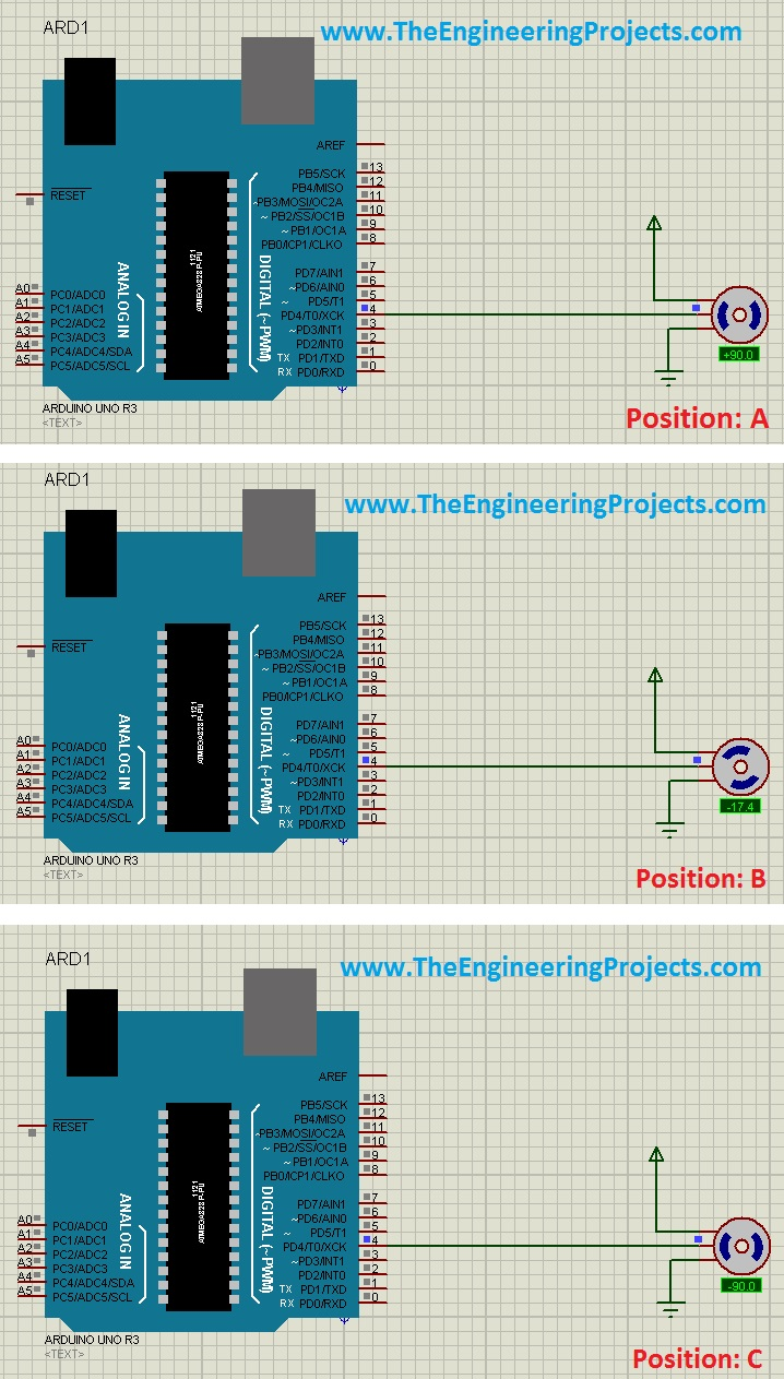 Control Servo Motor With Arduino In Proteus The Engineering Projects Wiring Diagram Also Xbee On Robot