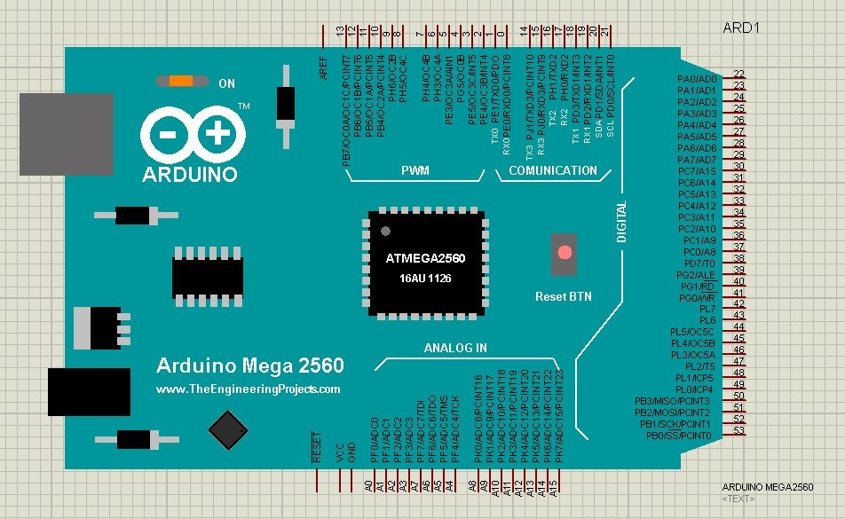 Arduino mega library for proteus the engineering