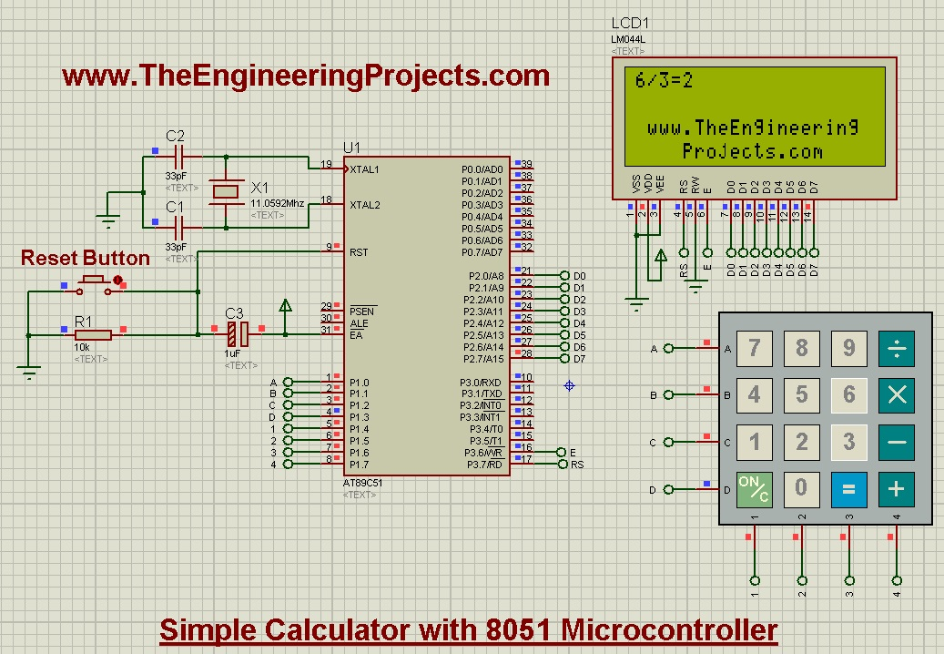 Design a simple calculator with 8051 microcontroller the design calculator with 8051 microcontrollercalculator with 8051 calculator design 80518051 calculator ccuart