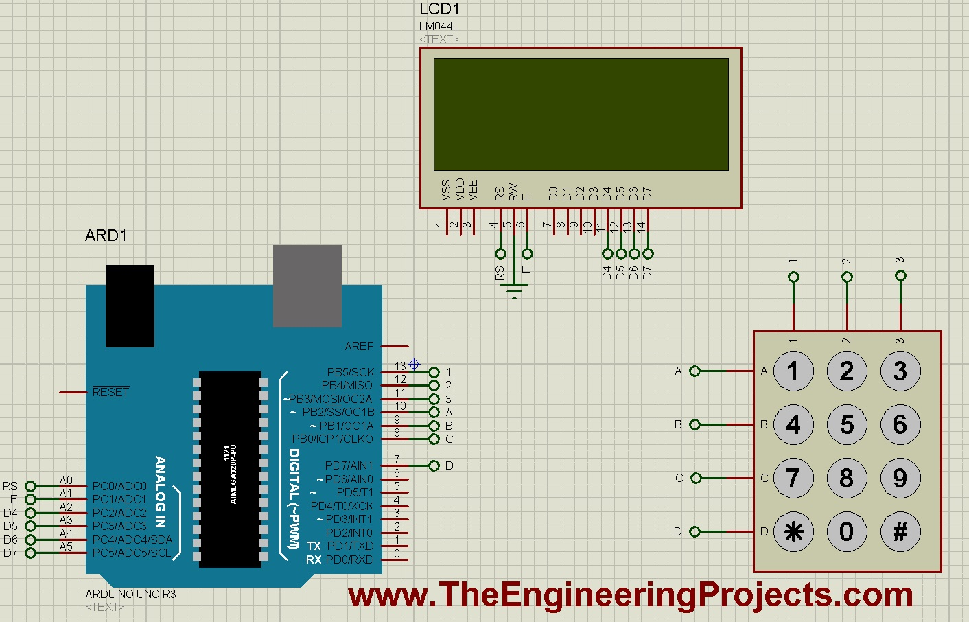 Interfacing of keypad with arduino the engineering projects