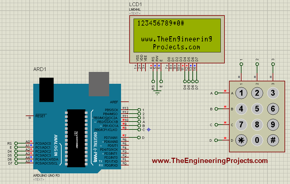 Interfacing of Keypad with Arduino - The Engineering Projects
