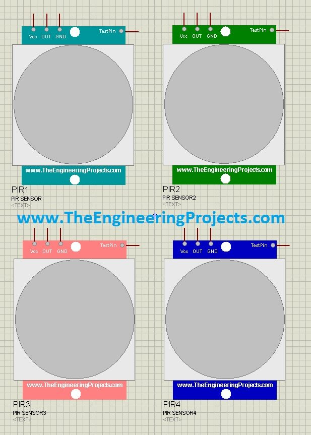 PIR Sensor Library for Proteus - The Engineering Projects