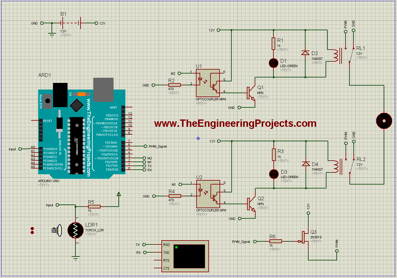 Dc Motor Speed Control Using Arduino In Proteus The