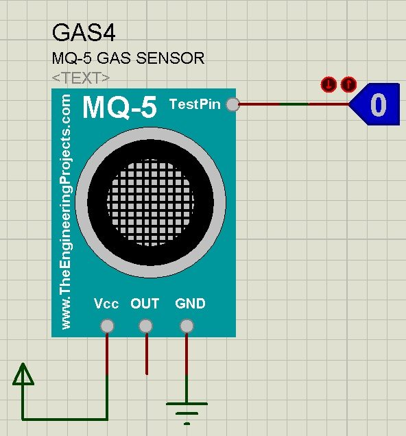 Gas Sensor Library for Proteus