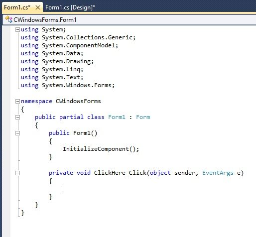 buttons in c#, how to use buttons in c#, buttons code c#, C# buttons code, c# button code