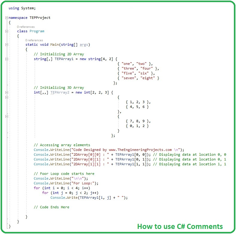 How to use C# Comments, c# comments, comments in c#, comments c#, comments in c#