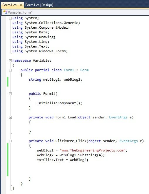 How to use C# String Variable