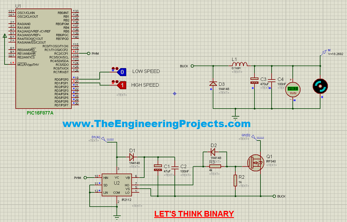 Speed Control Of Dc Motor Using Pic Microcontroller The Is A Circuit To Uses Pulse Width Modulation Pwm