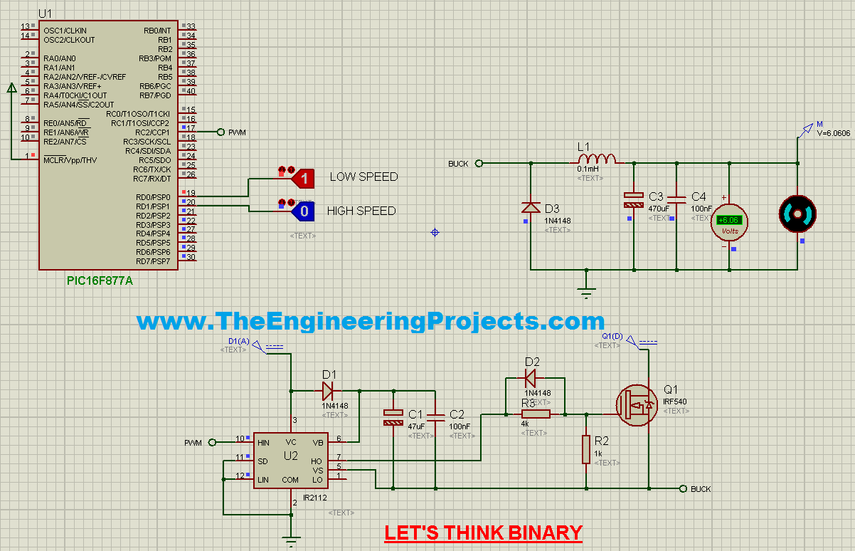 Speed Control of DC Motor using PIC Microcontroller - The