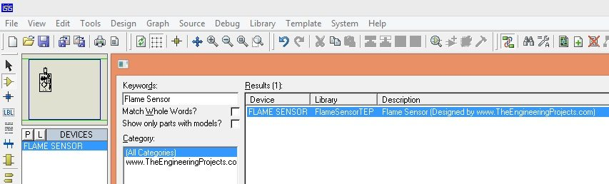 How to add Flame Sensor Library in to proteus 7 & 8
