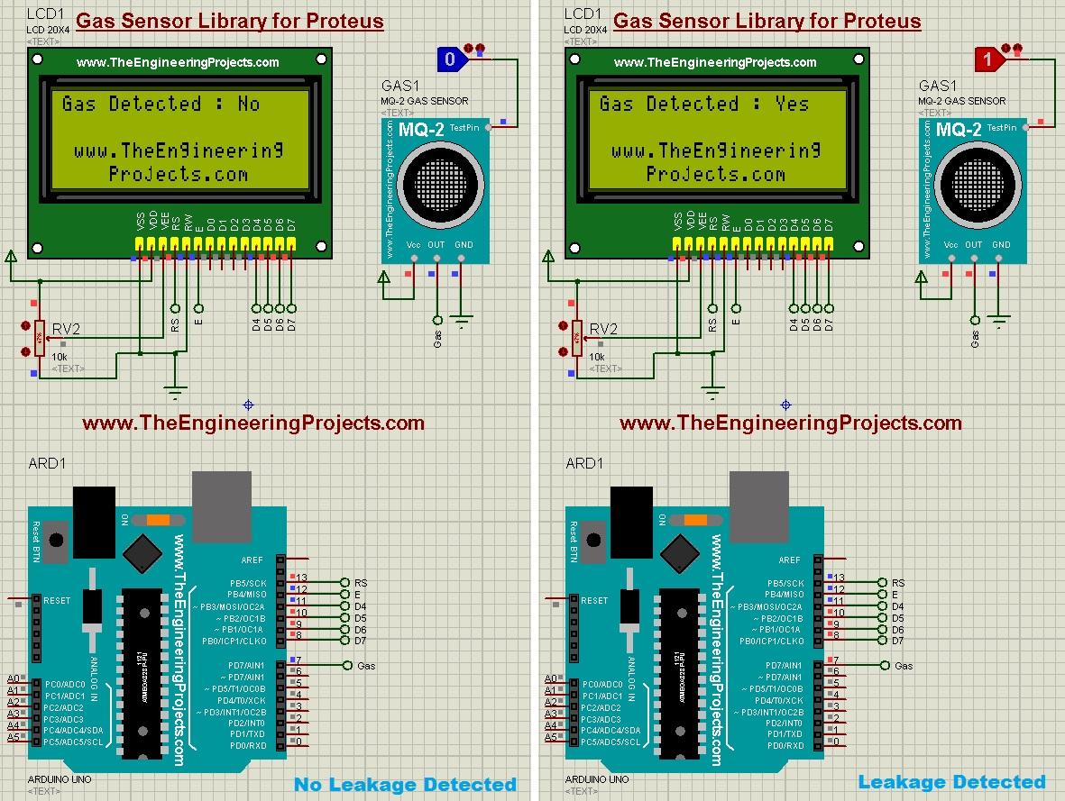 LPG Gas Leak Detector using Arduino - The Engineering Projects