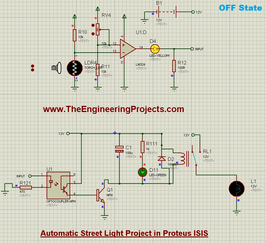 Automatic Street Light Project in Proteus - The Engineering Projects
