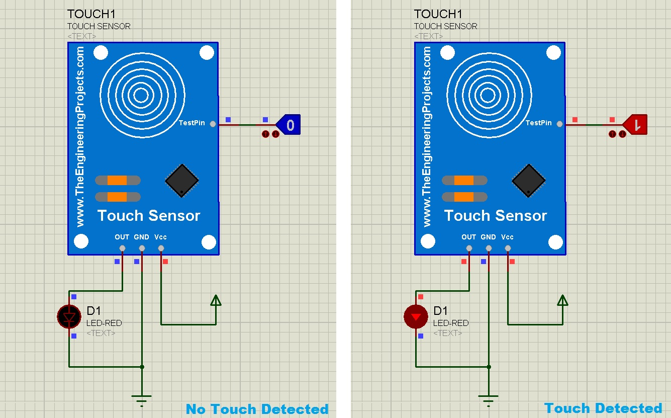 capacitive touch sensor library for proteus