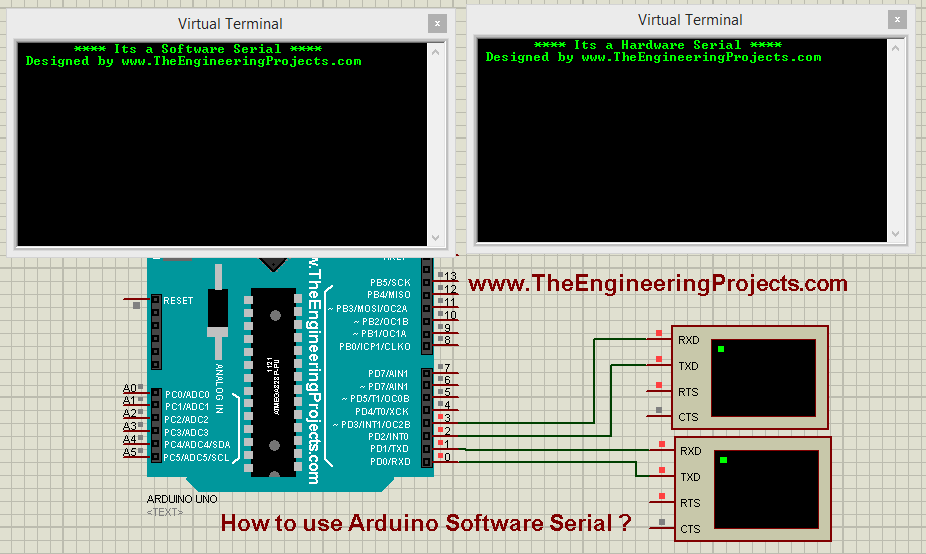 How to use Arduino Software Serial ? - The Engineering Projects