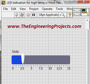 Temperature sensing using NI LabVIEW, Temperature level indication in LabVIEW, Temperature level detector in LabVIEW, Sensing different levels of temperature in LabVIEW, How to differentiate between different levels of temperature