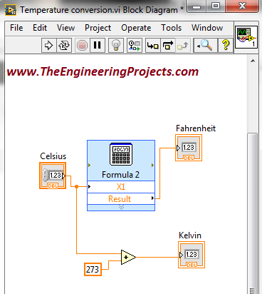 Temperature Conversion In Labview The Engineering Projects