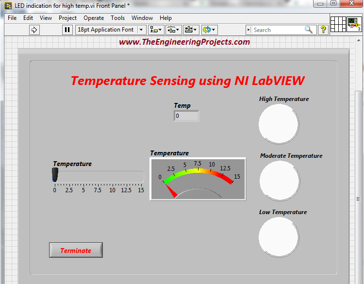 Temperature Sensing in LabVIEW - The Engineering Projects