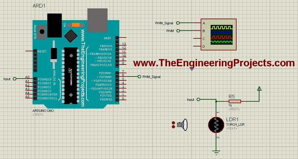 How to use Arduino PWM Pins - The Engineering Projects