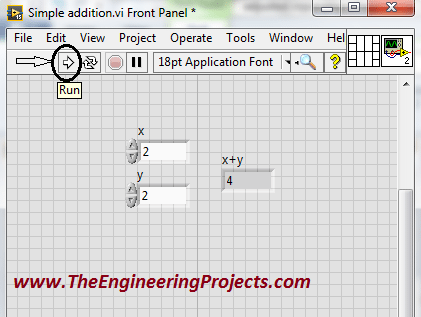 Creating your first program in LabVIEW, Programming with the LabVIEW, Using LabvVIEW for the first time, How to use LabVIEW, How to make a simple logic in LabVIEW