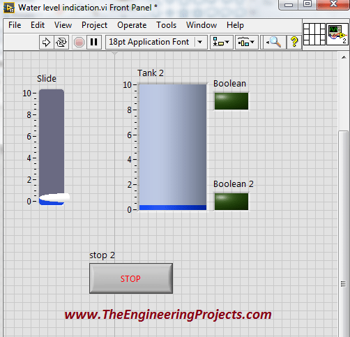 Water Level Detector in LabVIEW - The Engineering Projects