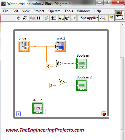 Creating Water Level Detector using NI LabvIEW 2015, Water Level Detector in LabVIEW, How to create a water level detector in LabVIEW 2015, Water level detector using LabVIEW 2015, how to build water level detector in LabVIEW