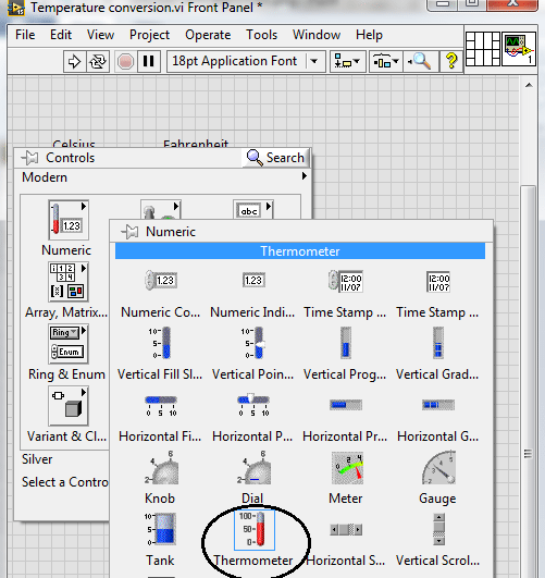 Temperature Conversion in LabVIEW - The Engineering Projects