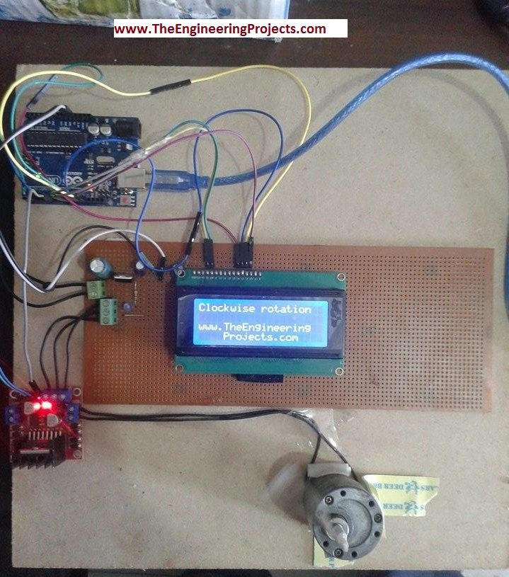 DC Motor Speed Control using Arduino - The Engineering Projects